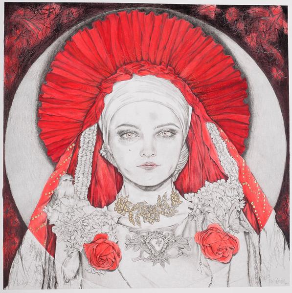 rosa mistica 57x57 2017 litografia inter