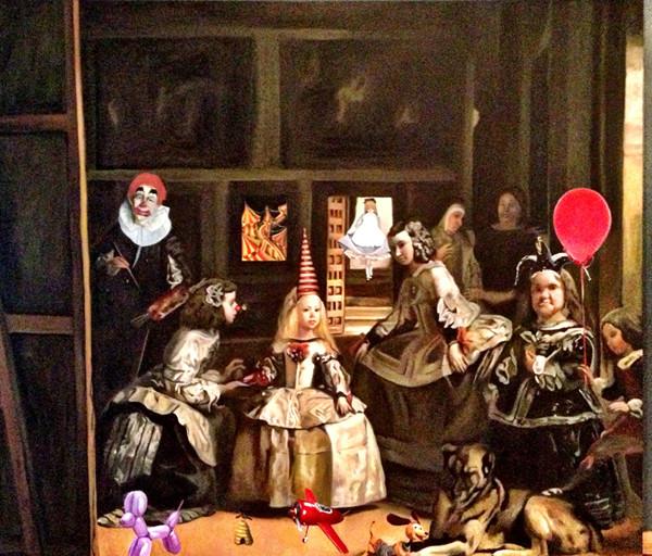 """Mis meninas"" 150 x 180 oleo sobre tela  2012"