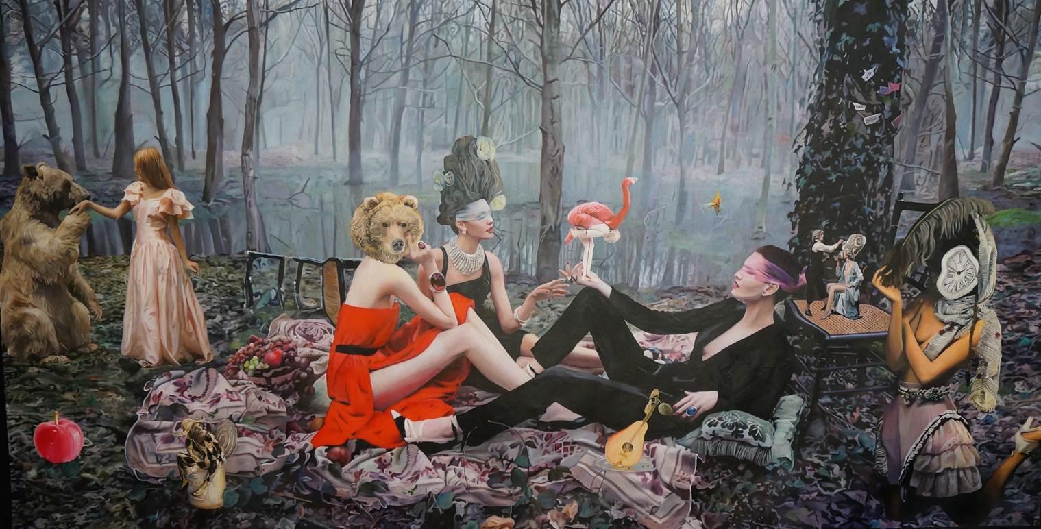 """""""Secret garden""""  140 x 260 Oil on canvass 2015"""