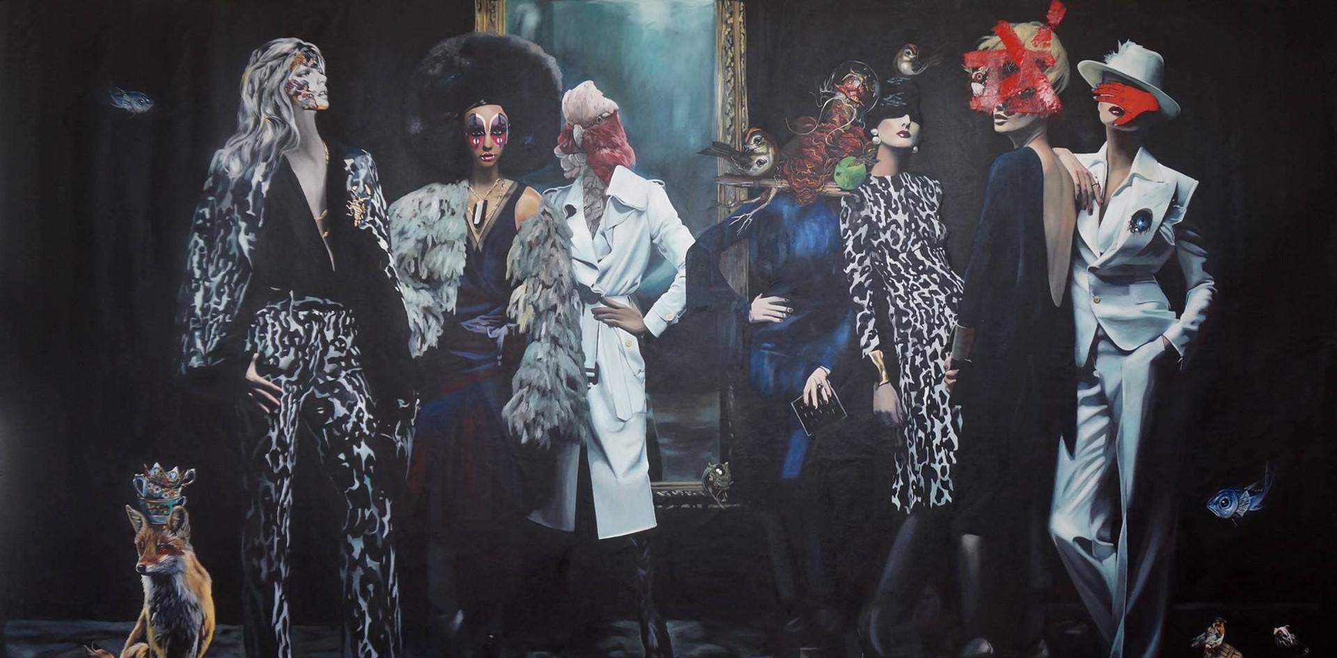 """Vanity"", 150 x 270, oil on canvas, 2016."