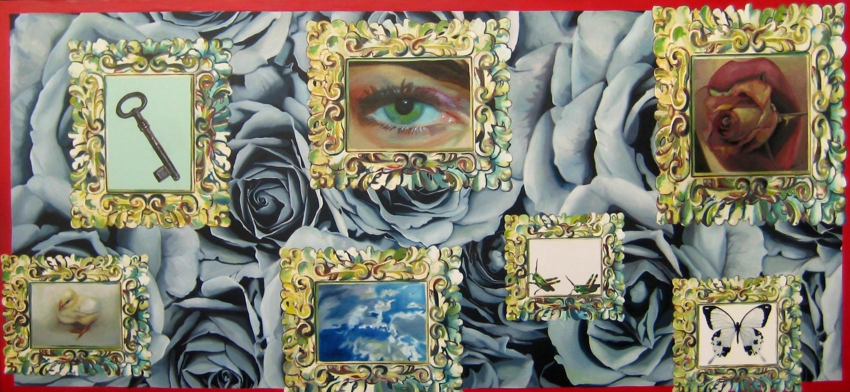 """""""Black and white 140 x 300 oleo sobre tela 2008"""