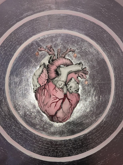 sweet heart 54x54 litografia intervenida