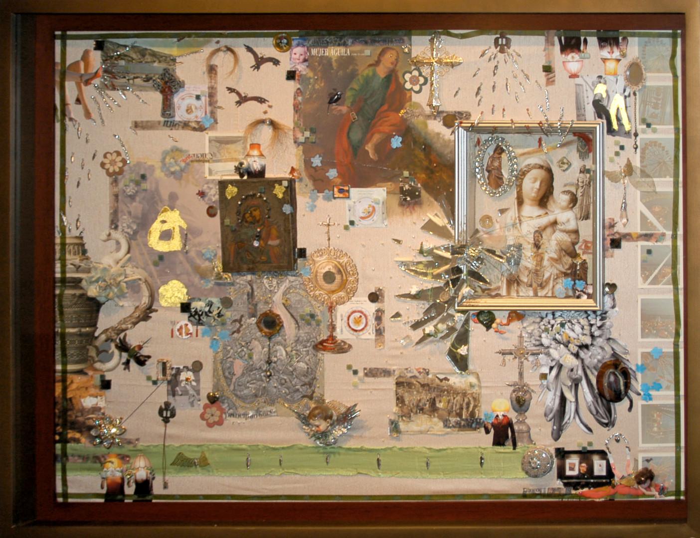 La Feria. collage assemblage 90x120