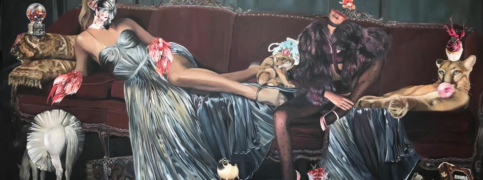 """""""El fin del mundo"""", 140 x 285, oil on canvas."""