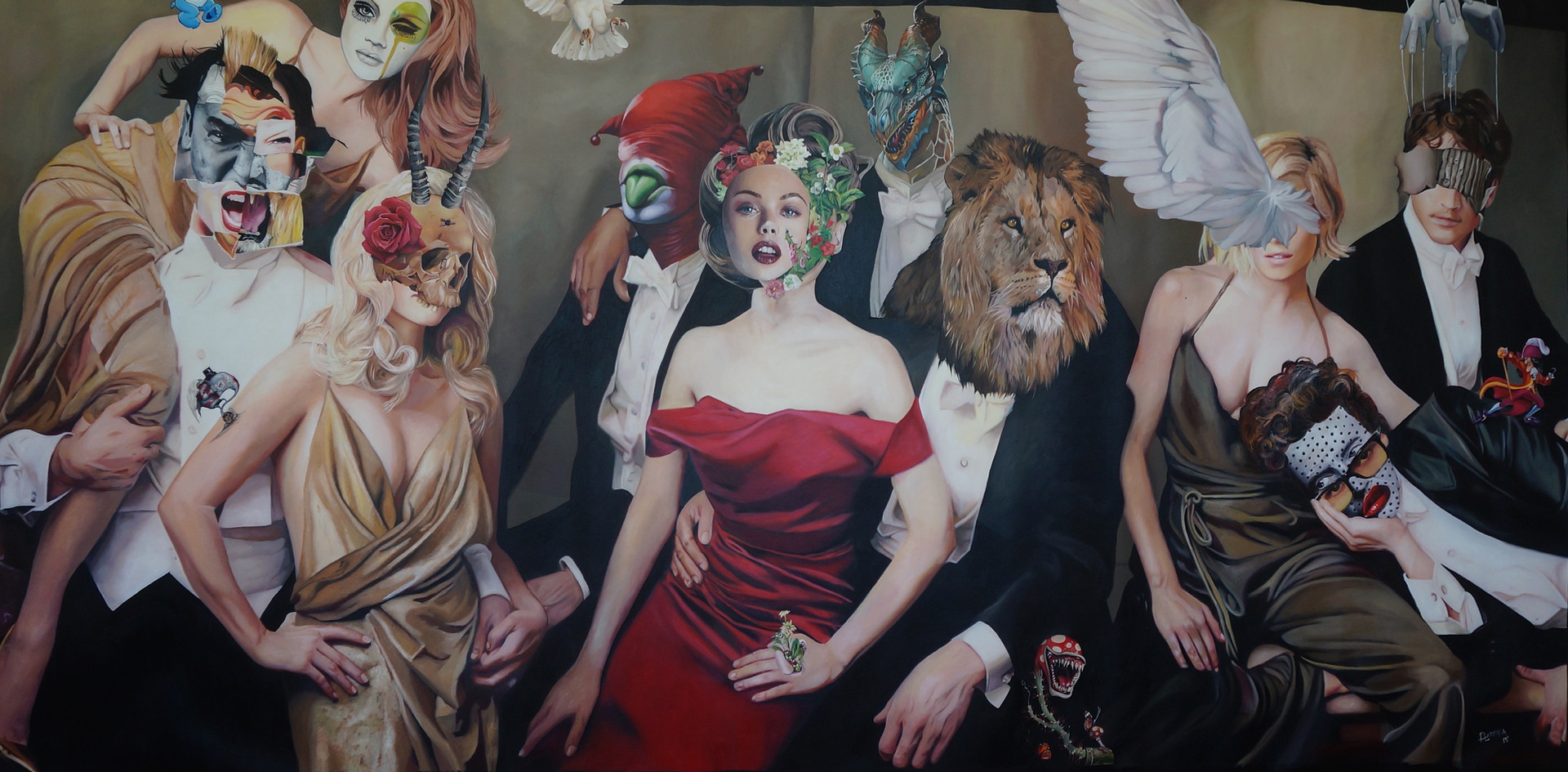 """Caviar Chronicles""  150 x 280 oleo sobre tela 2015"