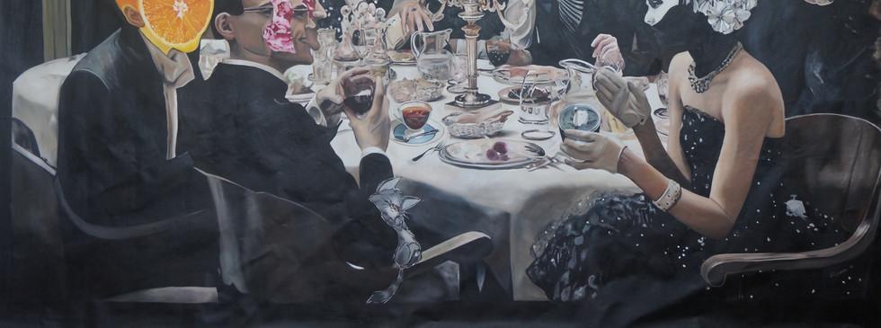 """""""Prohibido prohibir"""" , oil on canvas , 260 X 150 cm, 2016."""