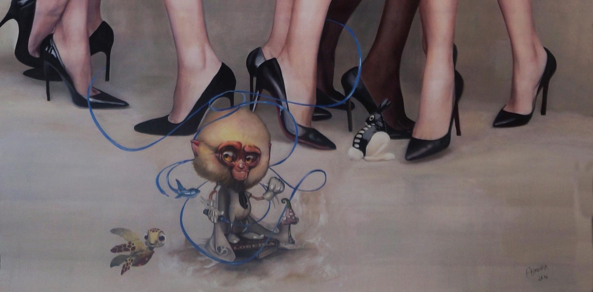 """Okto illusion"" 125 x 250 cms óleo sobre tela 2016"
