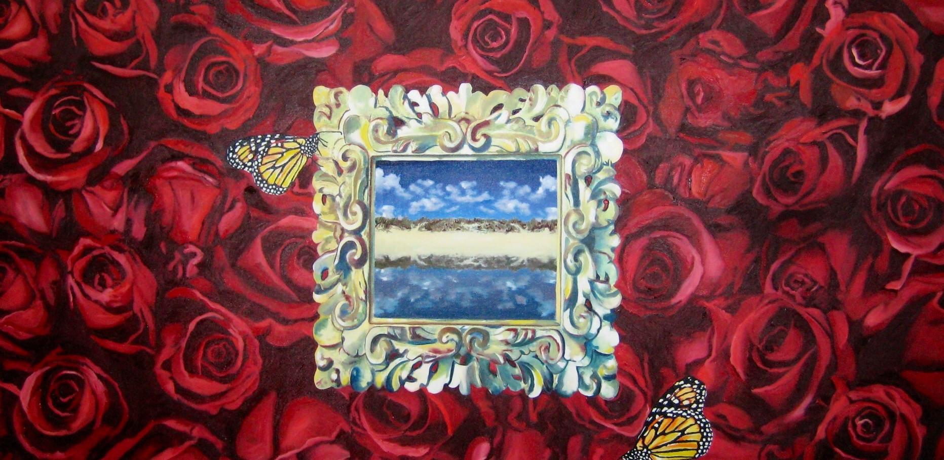 """""""Cielo escondido""""  1 x 220 oleo sobre tela 2008"""