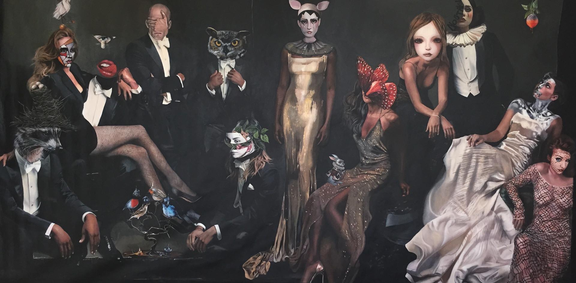 """""""Showtime"""", 140 x 290 cm, óleo sobre tela, 2015."""