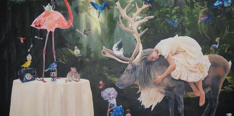 """""""Eternal feast"""" 140 x 200 cms óleo sobre tela 2015"""