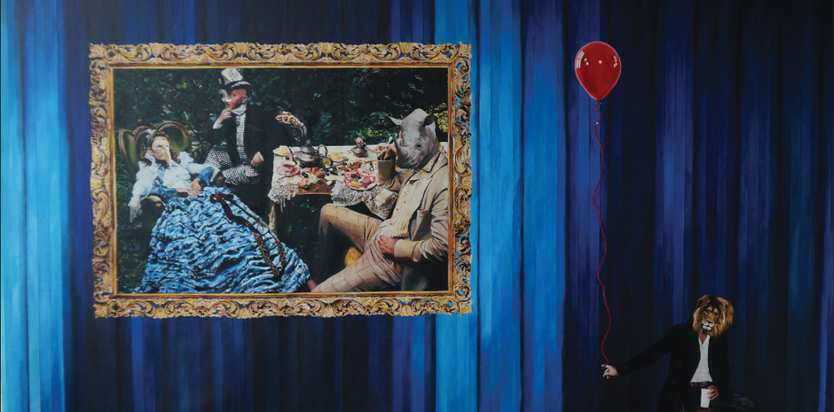 """""""But dear, this is not wonderland, and you are not Alice """" , óleo. Sobre tela , 150x280 , 2014"""