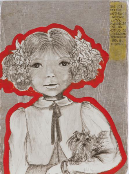 Lolita 2013. 46x35 técnica mixta