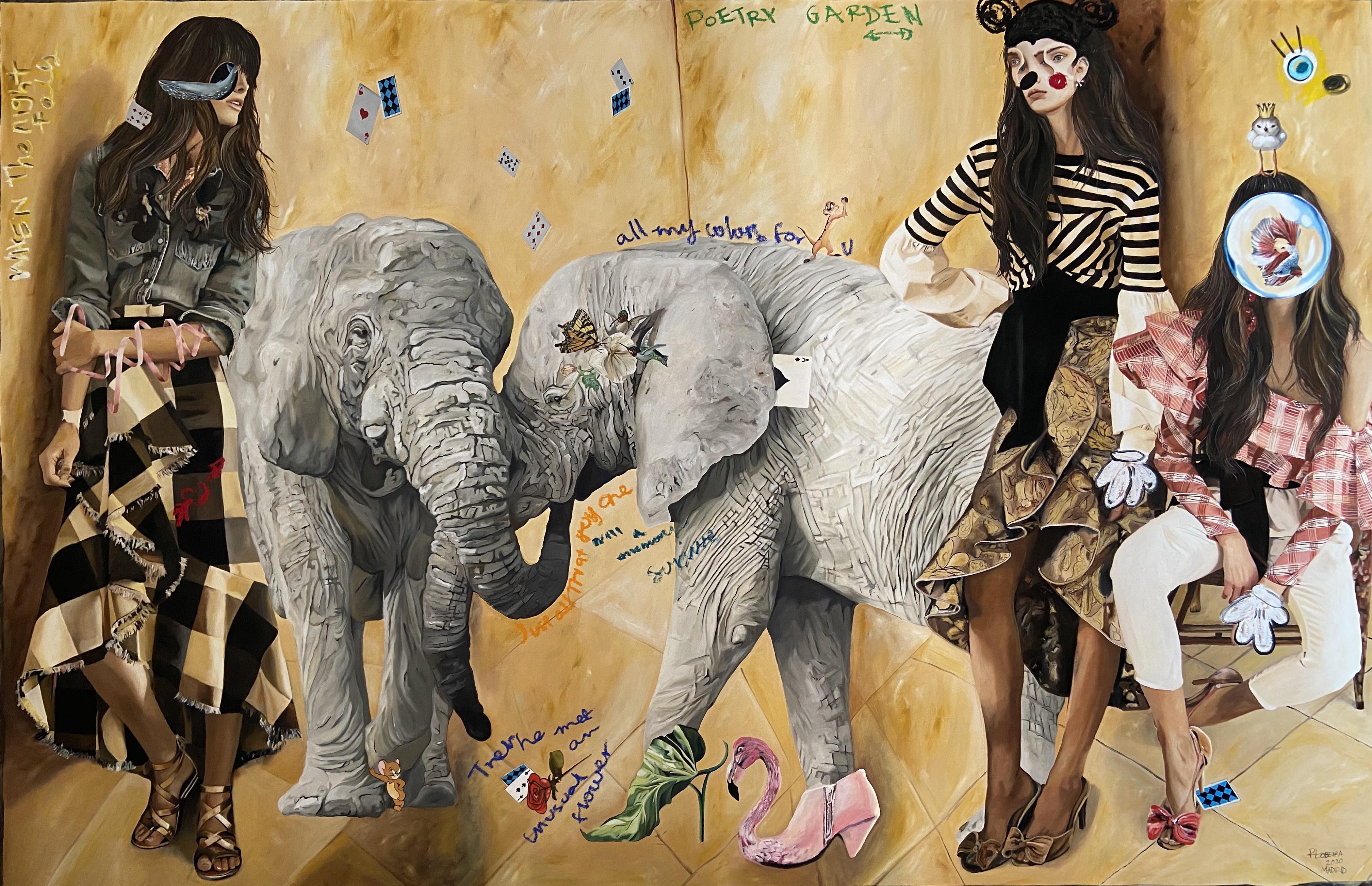 """""""Encuentro imaginario"""", 160x250, óleo sobre tela, 2020."""