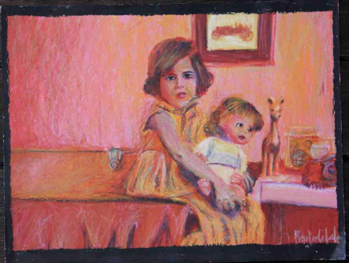 Amiga del aula 58x65 2012 pastel de aceite