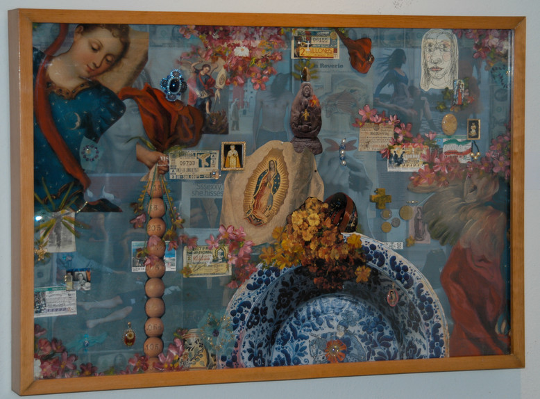 Loteria 80x120 collage assemblage