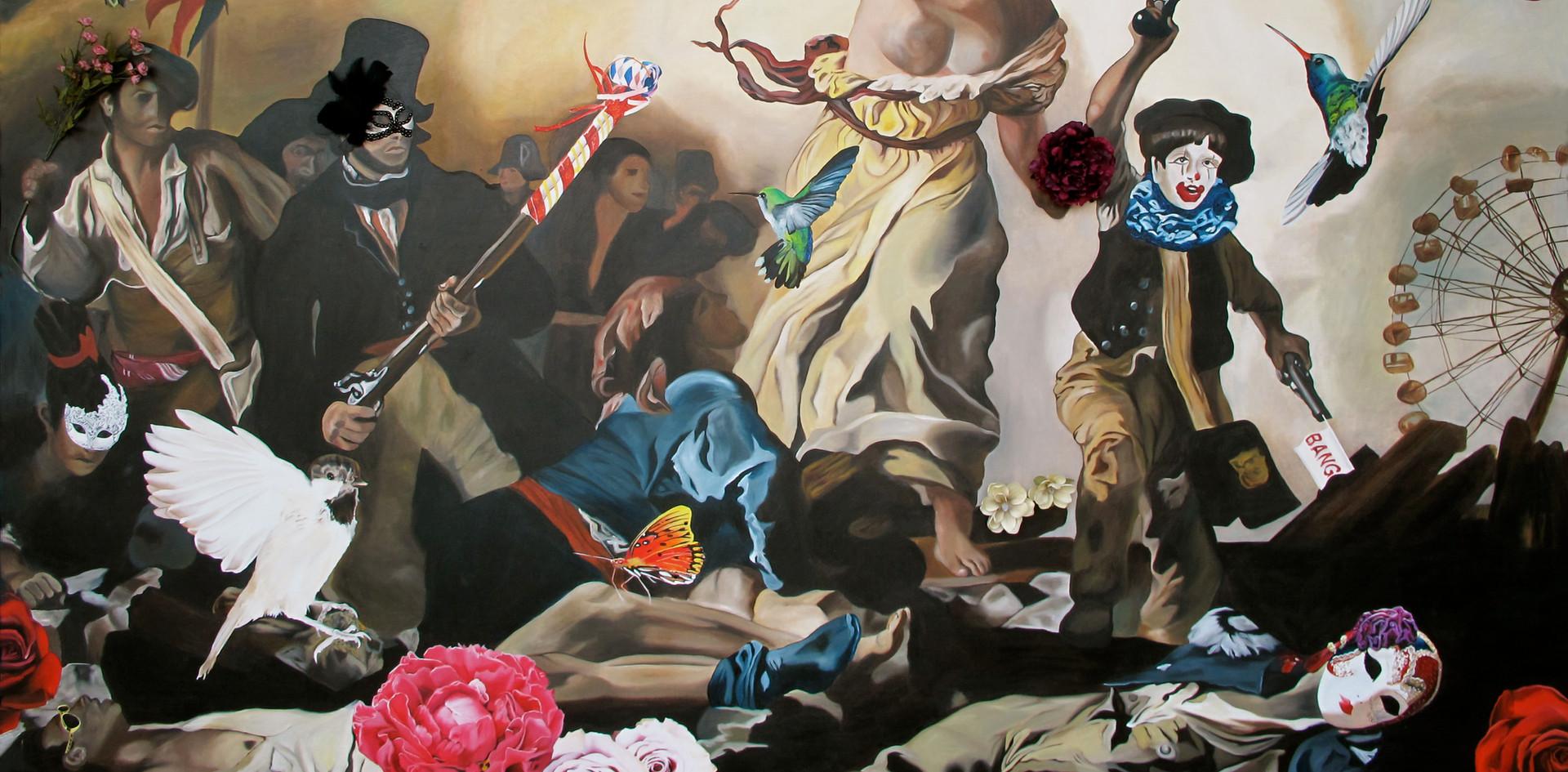 """""""Viva La Vida"""" 2 x 3 Oleo sobre tela 2011"""
