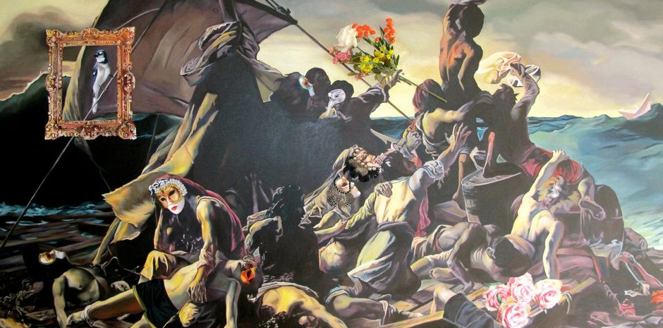 """""""Victory of hope"""" Oil on canvass 166 x 244 cms"""