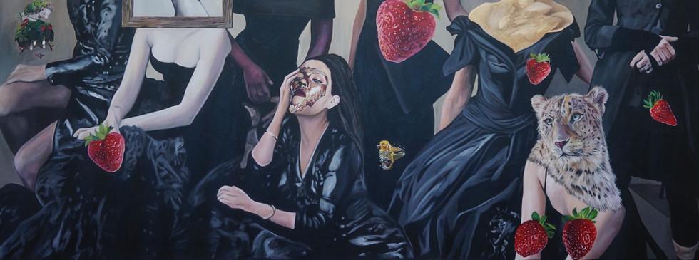 """""""Hasta que aguante la ilusión"""" 140 x 250 Oil on canvas 2017"""