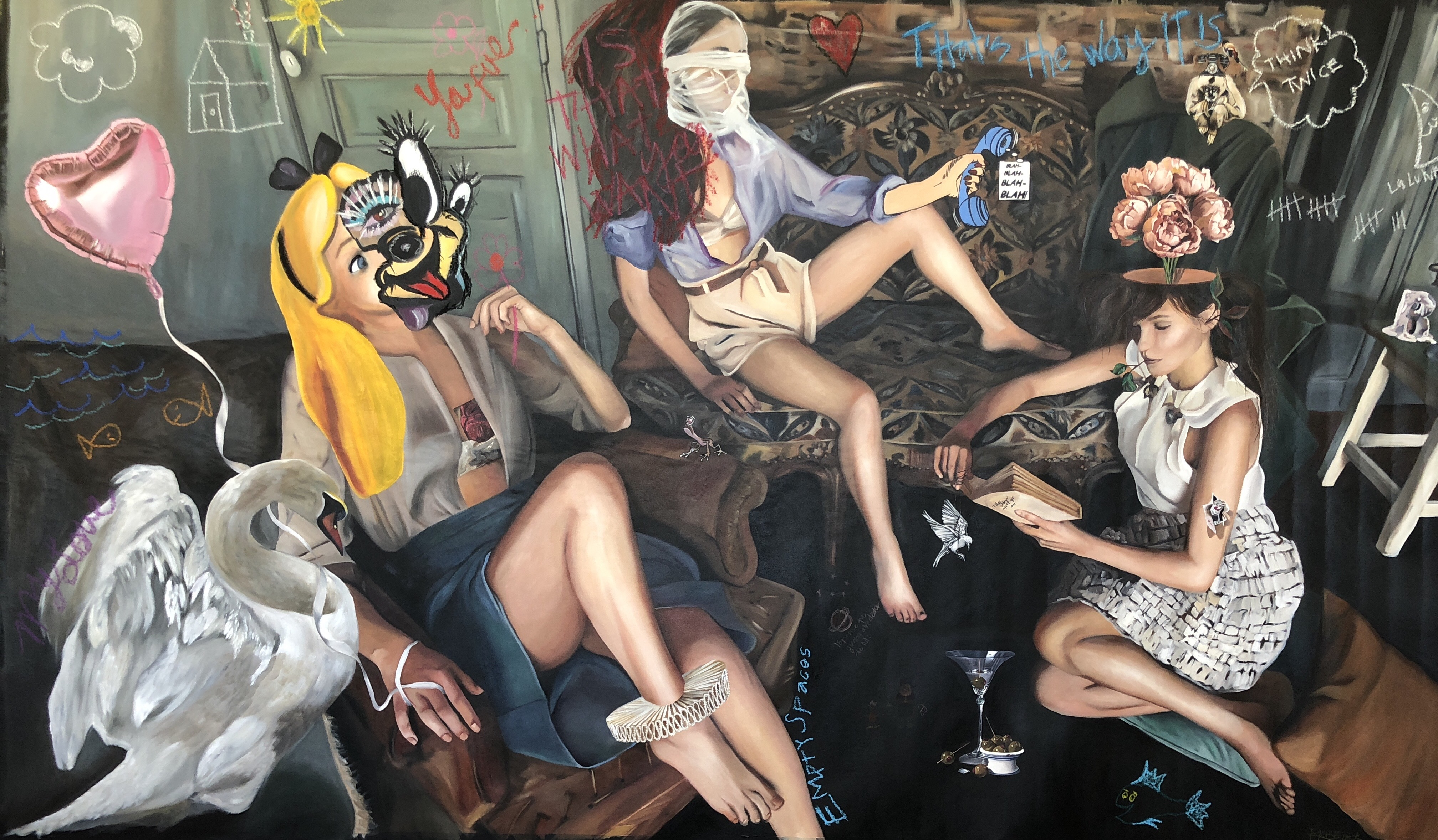 El destino maricón, óleo sobre tela, 2018.