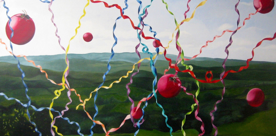 """Escape to freedom"" 160 x 220 Oleo sobre tela 2010"