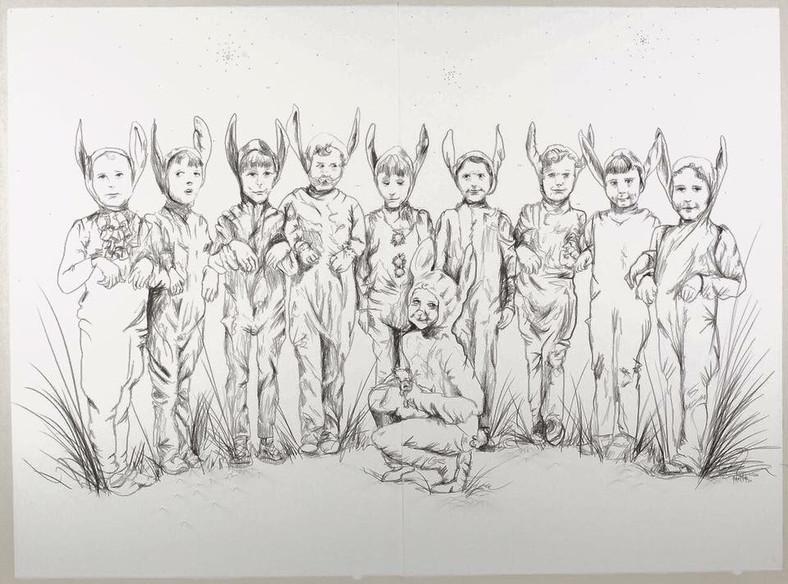Los niños perdidos 152x191 grafito_y_alf