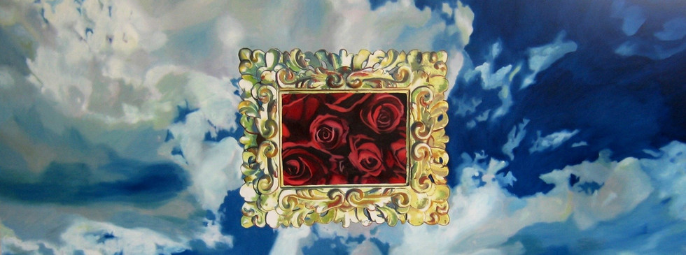 """""""Cielo enmarcado 1"""" 120 x 200 oleo sobre tela 2008"""