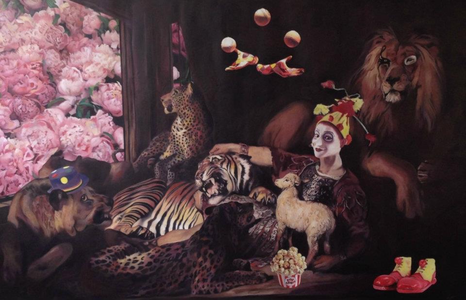 """Cirque"" 250 x 160 , oleo sobre tela ,2012"