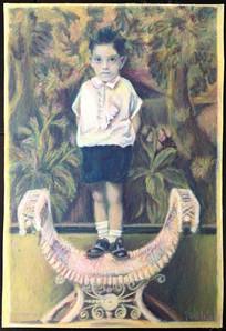 Angel Guardian, 2011. Pastel de aceite 35x 25