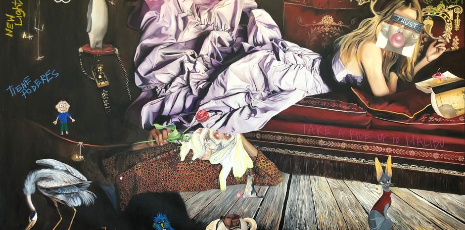 """""""Purple Fasicnation"""" Oli on Canvas 150 x 240"""