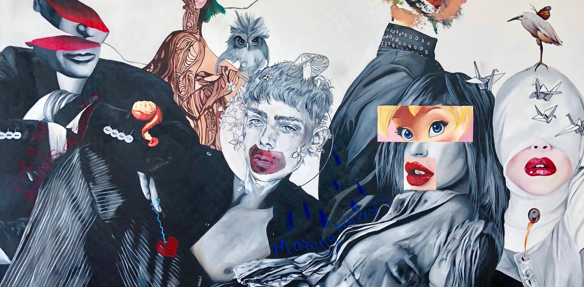 """Dulce Locura"", Oleo sobre tela , 170x170 , 2018."