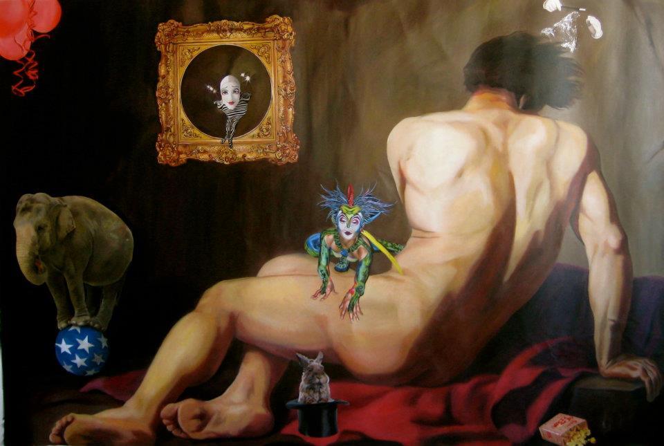 """Stronger Than a story"" 210 x 140 Oleo sobre tela 2012"