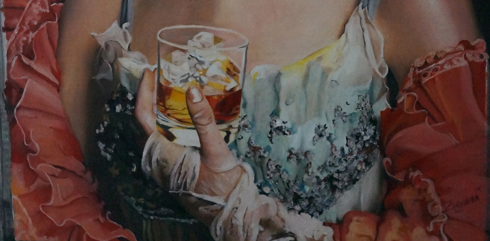 """The taste of beauty"" , óleo sobre tela ."