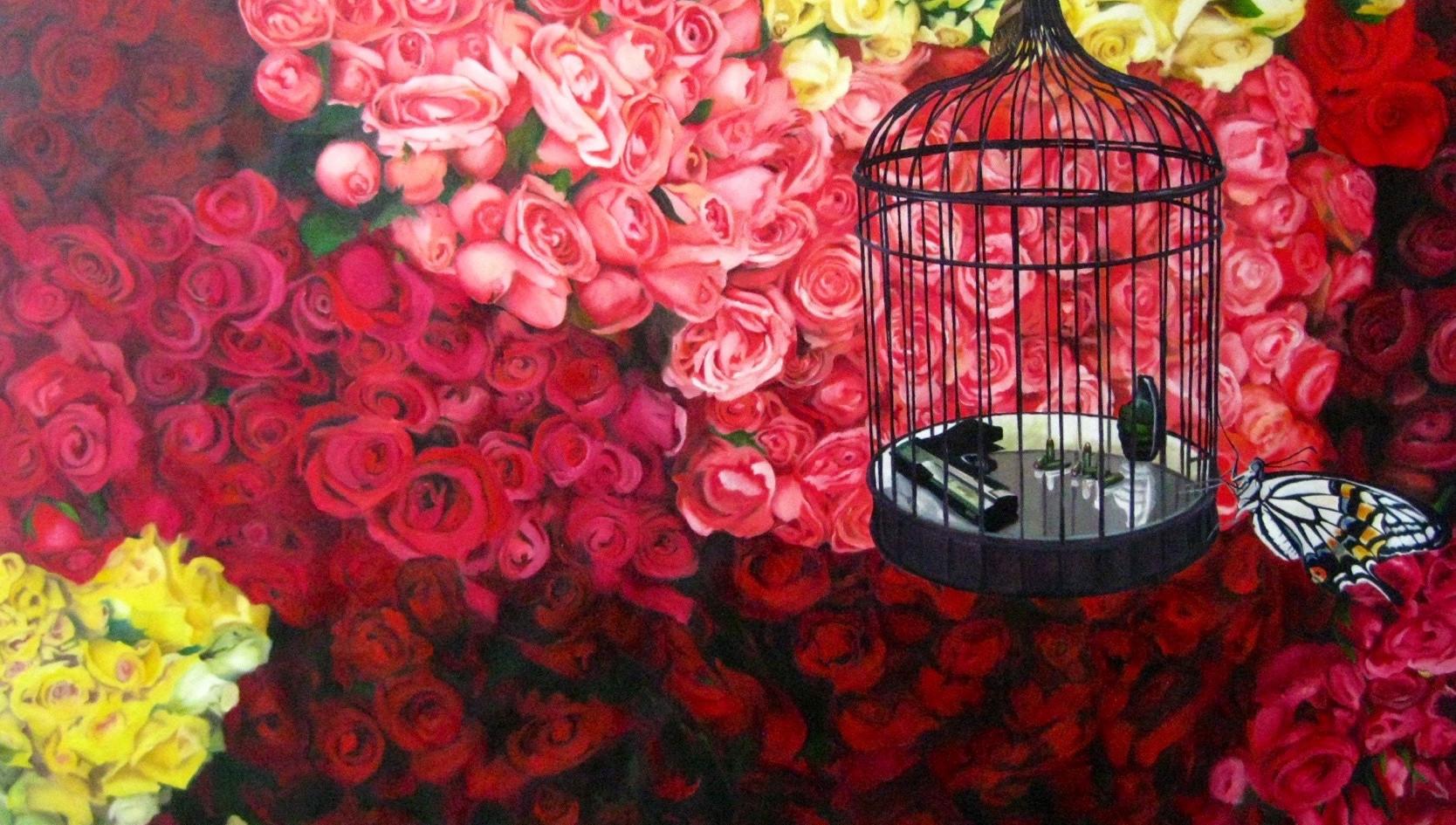 """A hearts desire"" Oleo sobre tela Art Auction NYC Project paz 140 x 110 2010"