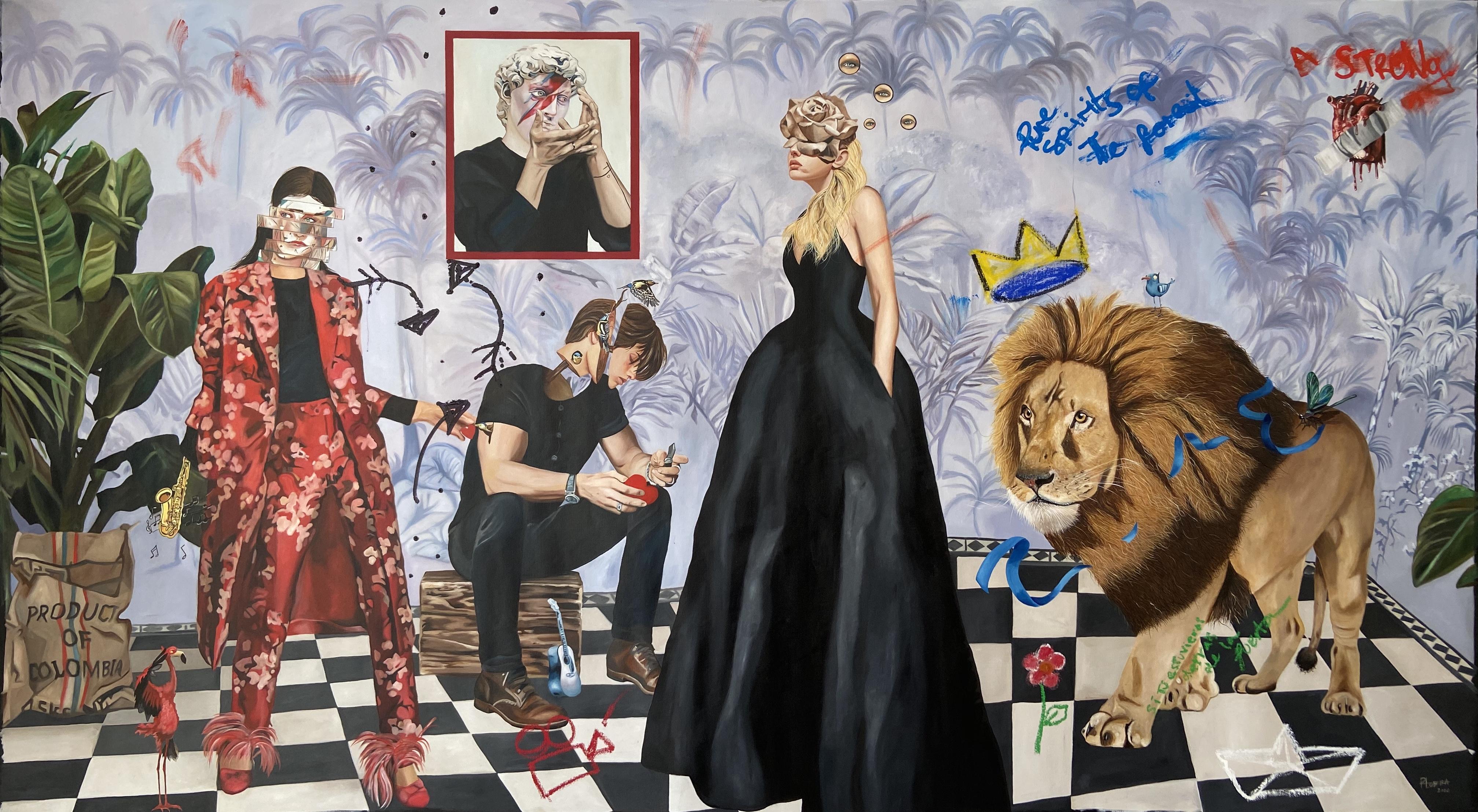 """""""Un sueño en el que puedo verte"""", 160 x 280, Oleo sobre tela, 2020"""
