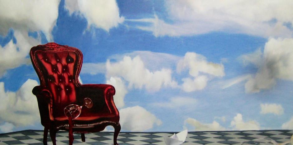 """La ultima cena"" Oleo sobre tela 120 x 140 2008"