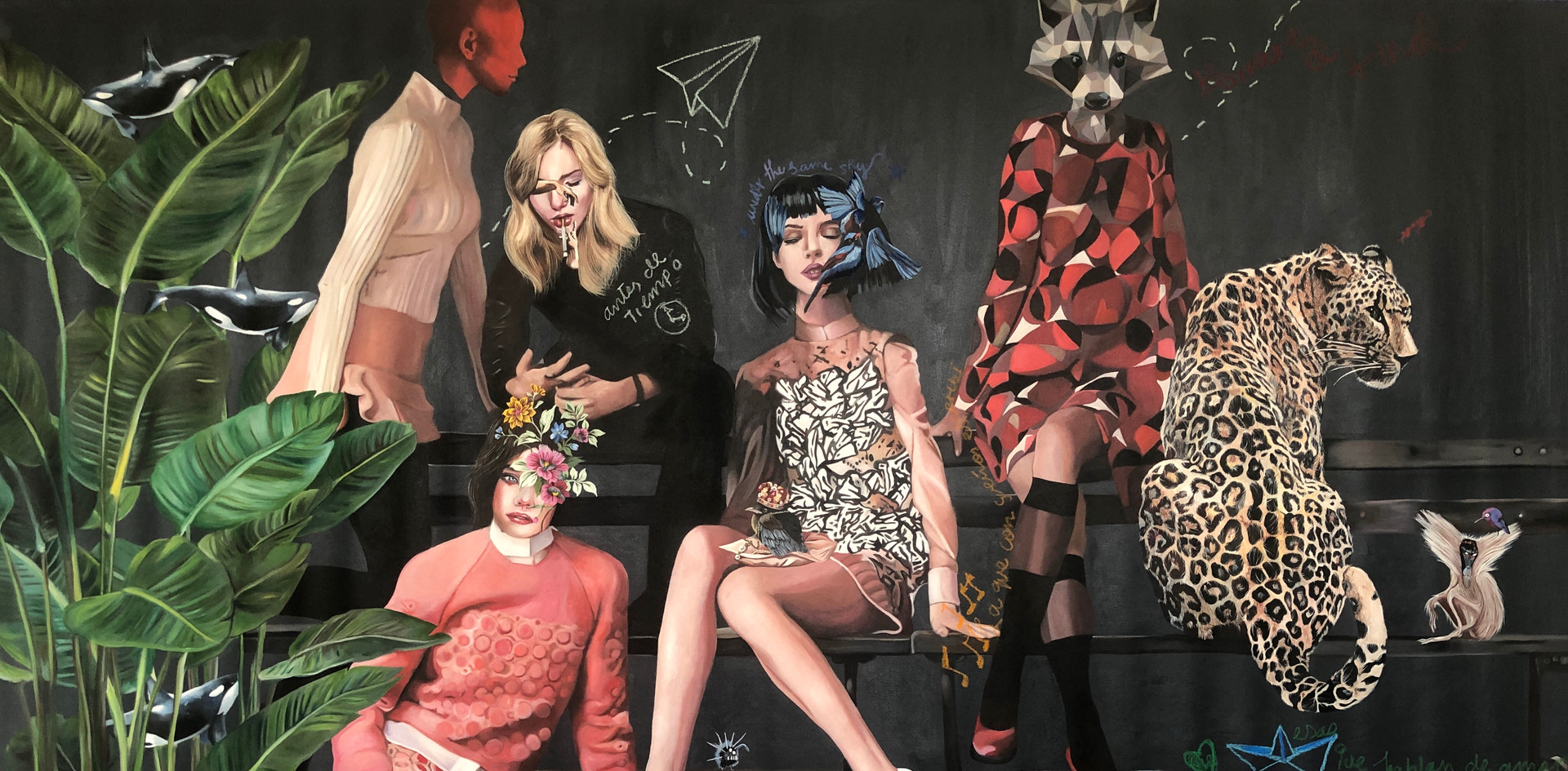 """Date la vuelta"" , 150x265 cms, oil on canvas, 2019."