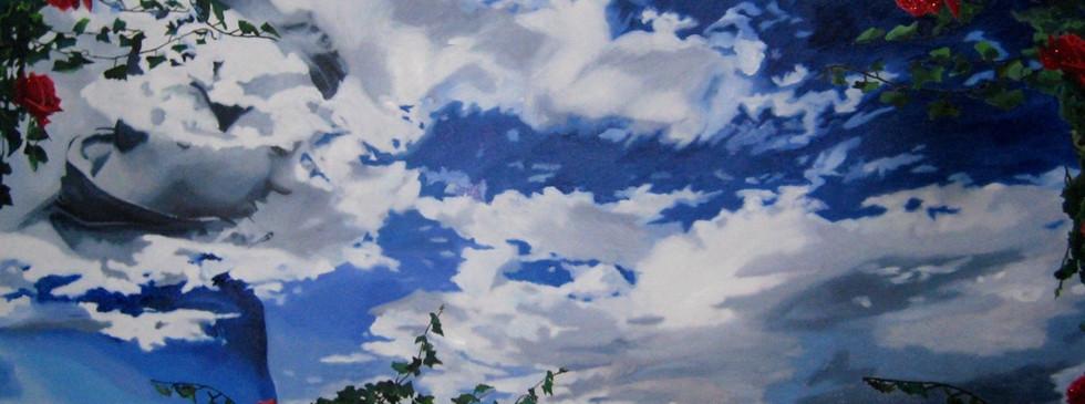 """Heaven"" oleo sobre tela 80 x 170 2018"