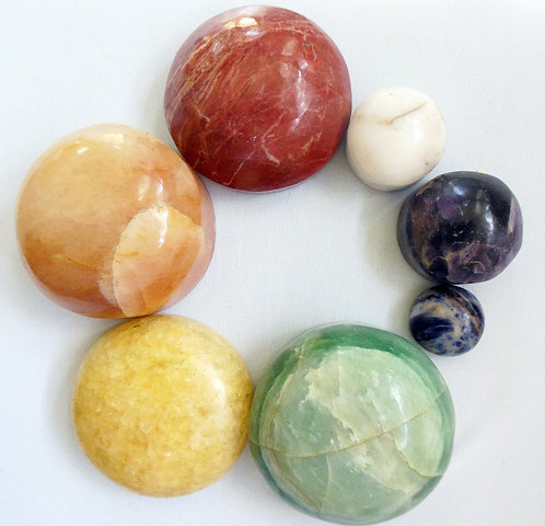 7 Colour of the Charka Massage Crystals