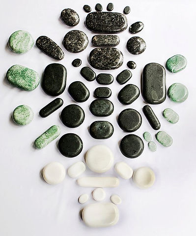 Hot Stone Massage Kits Training School Green Jade Gua Sha