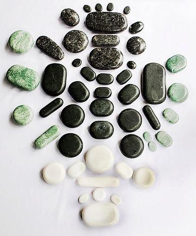 Hot Stone Massage Kits Training School Green Jade Gua Sha