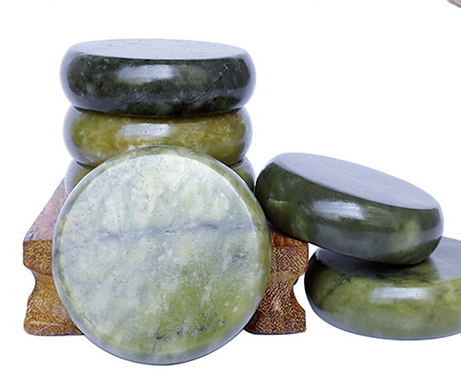 Gua Sha Green Jade Massage Stone