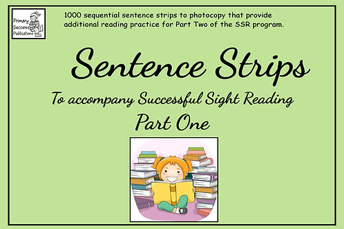 Sentence Strips - to accompany SSR - Part One