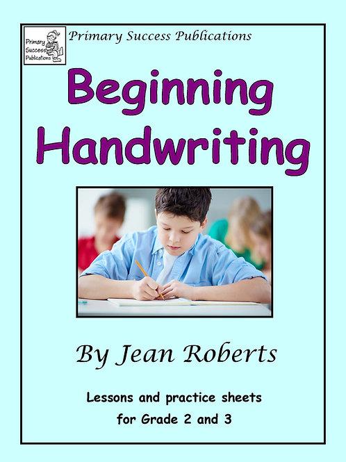 Beginning Handwriting