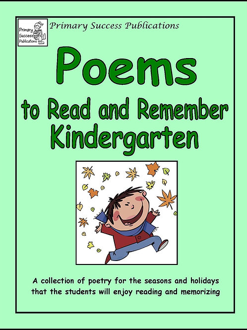 Poems to Read and Remember - Kindergarten