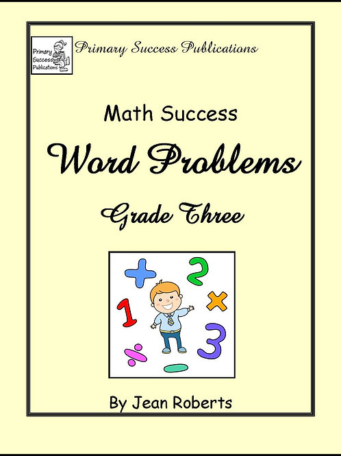 Math Word Problems - Grade Three
