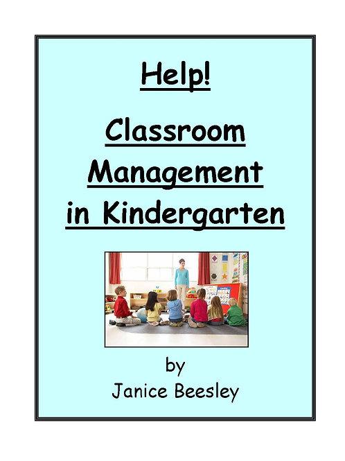 Help! Classroom Management in Kindergarten