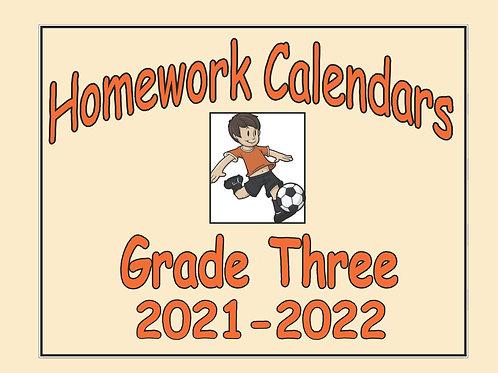 Homework Calendars Grade Three - 2021-2022