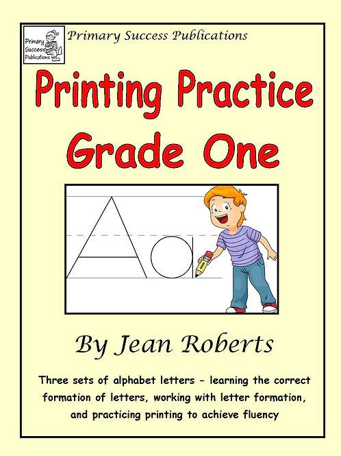 Printing Practice - Grade One