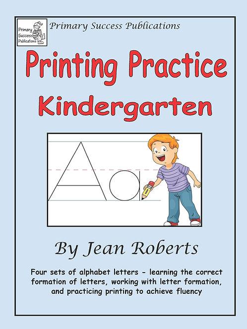 Printing Practice - Kindergarten