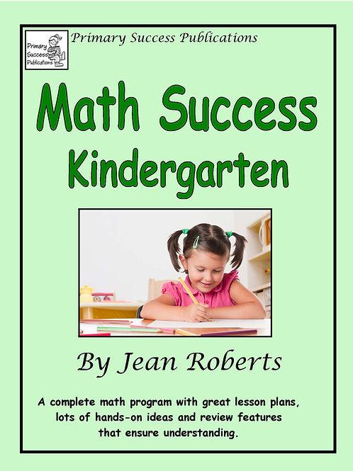 Math Success Kindergarten